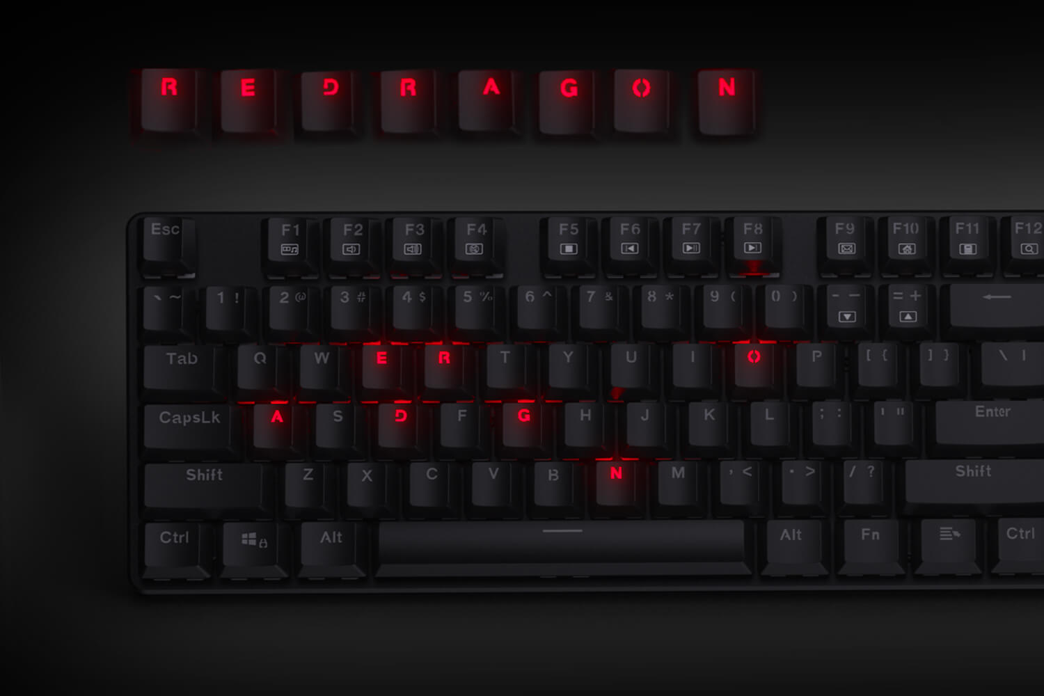 redragon low profile mechanical keyboard  k589
