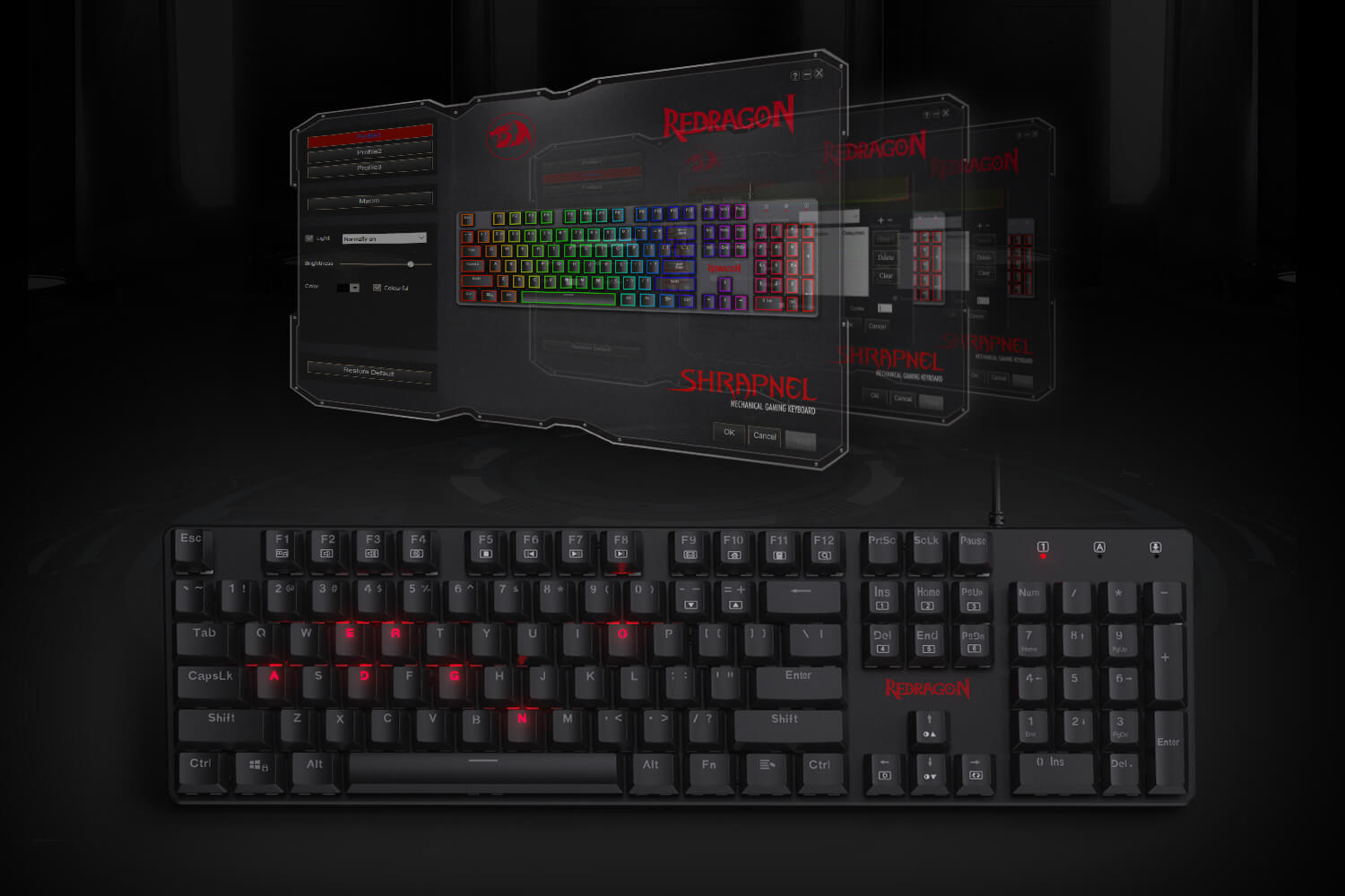 low profile mechanical keyboard  with software
