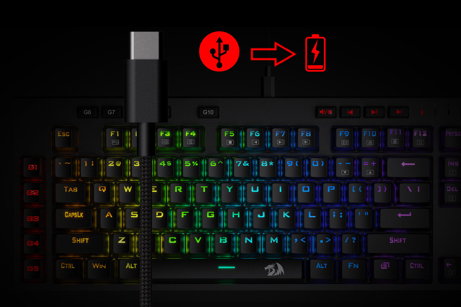 wireless mechanical keyboard with 2.4g wireless mode