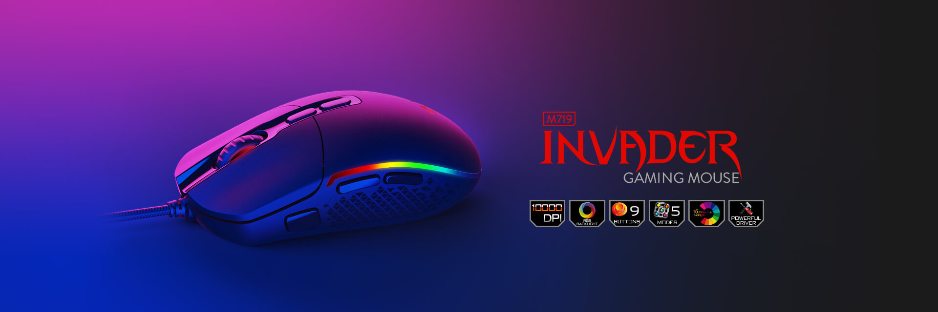 redragon invader m719 software