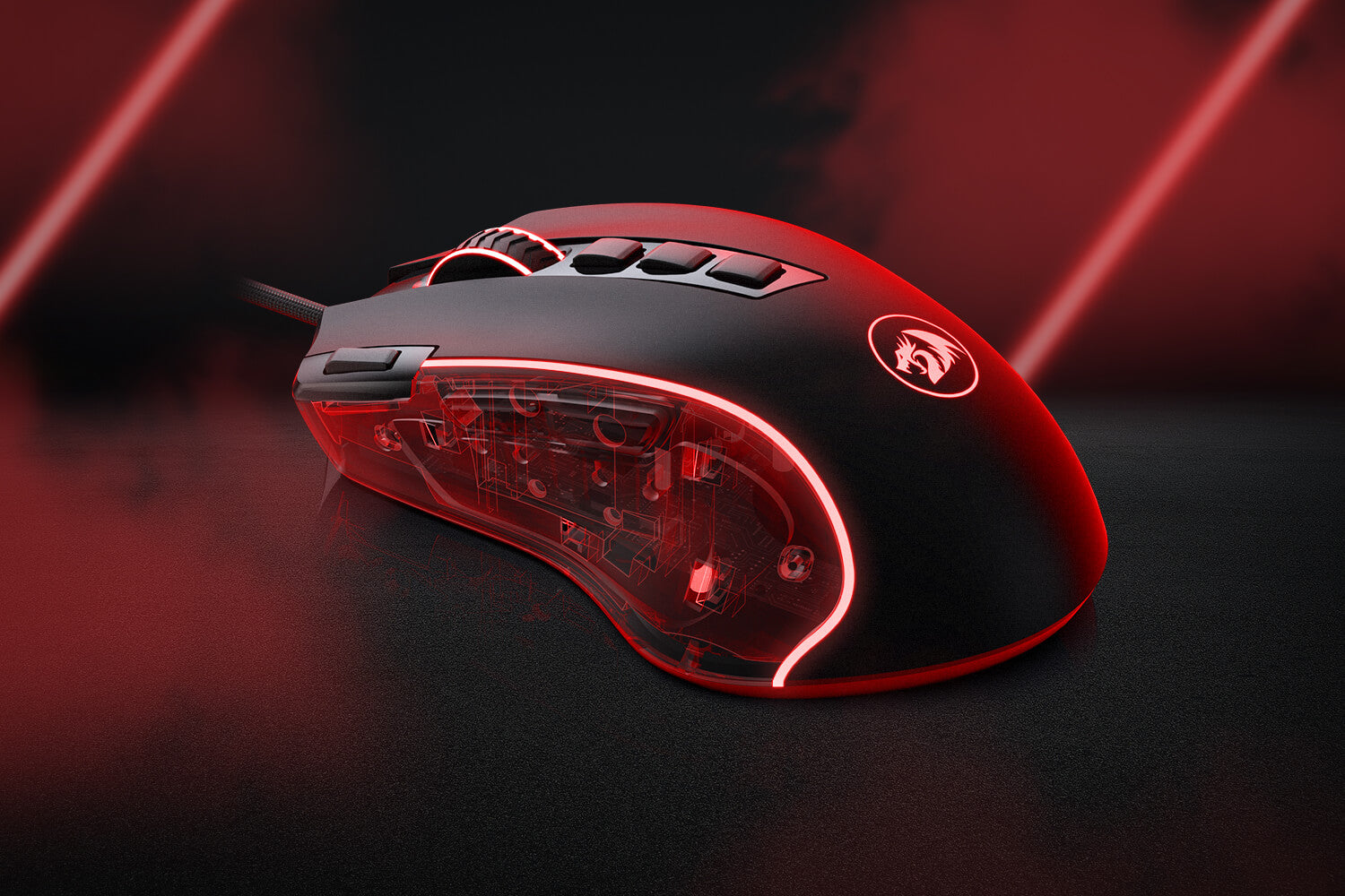redragon optical mouse m612 with Precision Actuation