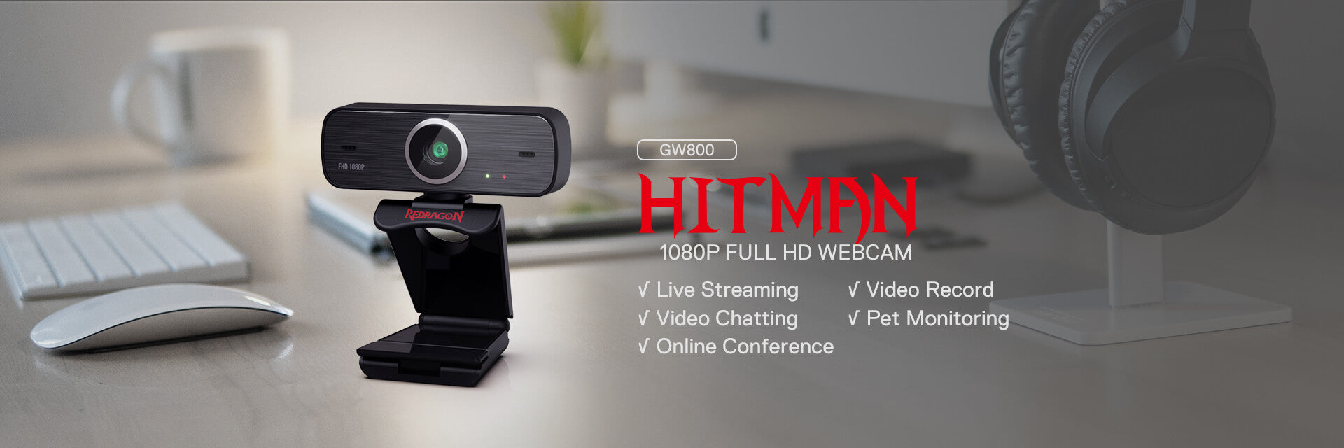 redragon 1080p webcam