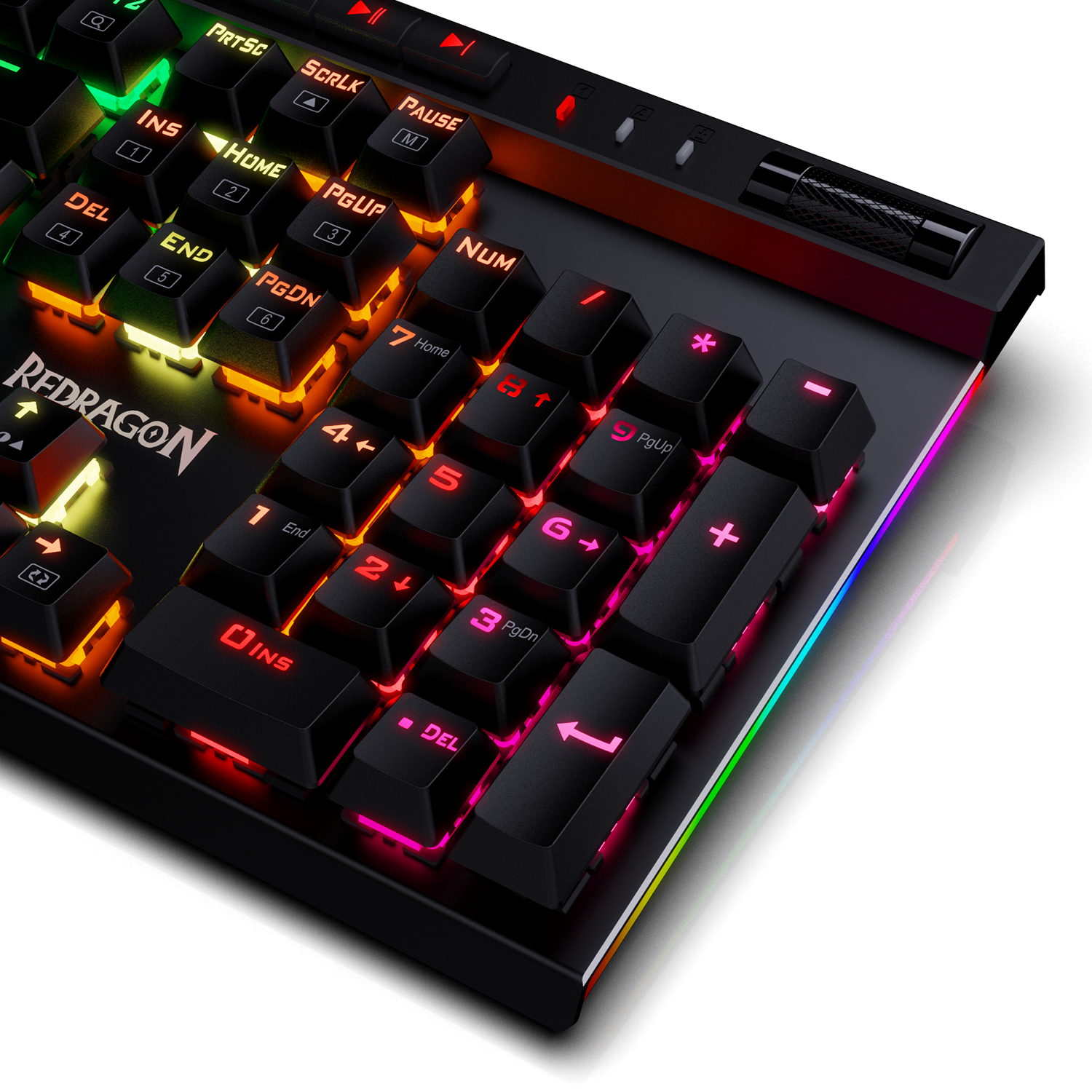 Gaming Keyboard with Macro Keys & Dedicated Media Controls