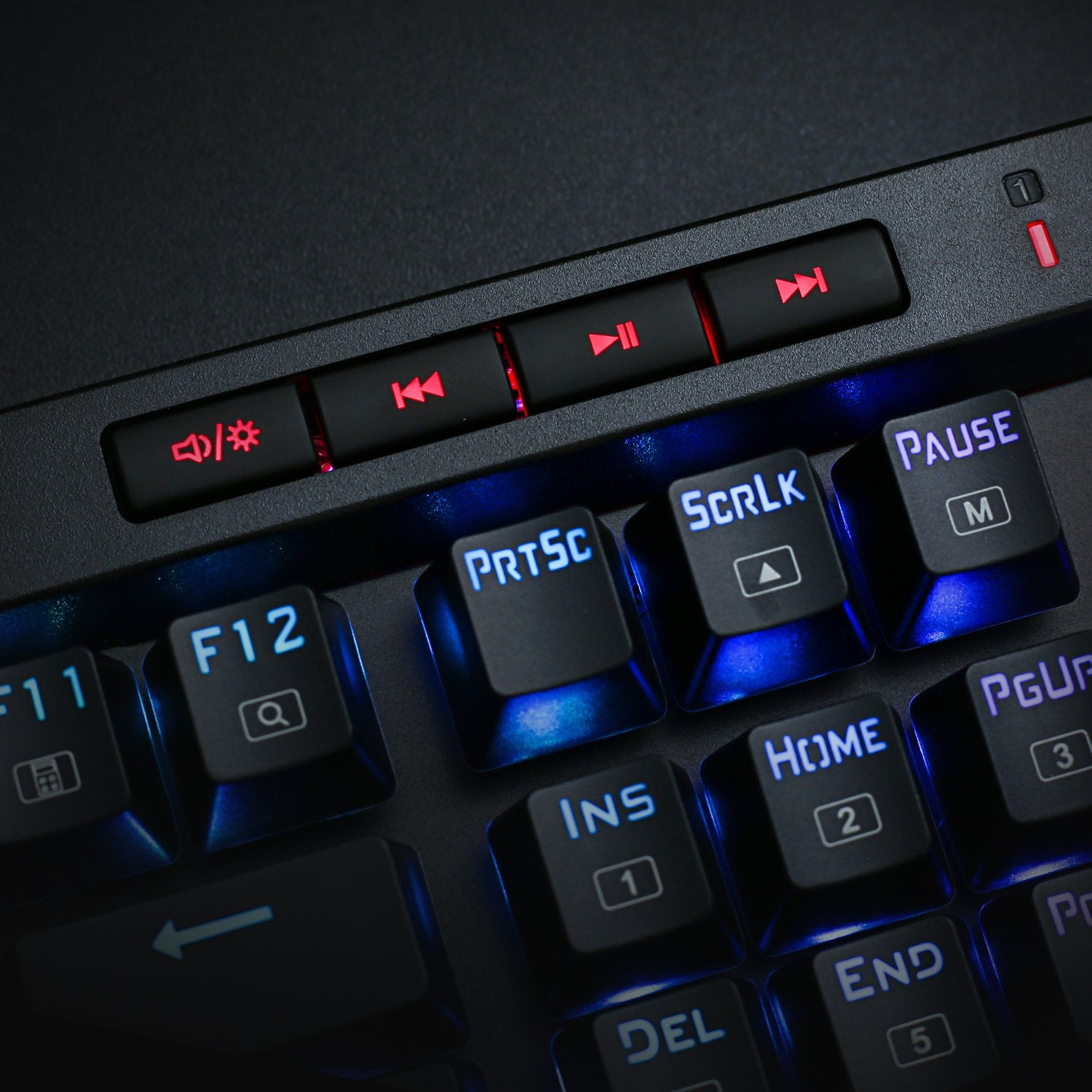 Mechanical Gaming Keyboard with Macro Keys & Dedicated Media Controls