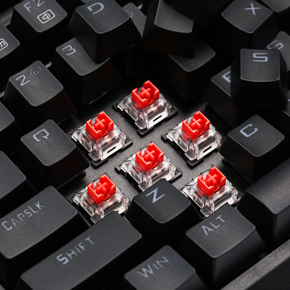 Redragon K596 keyboard with red switches