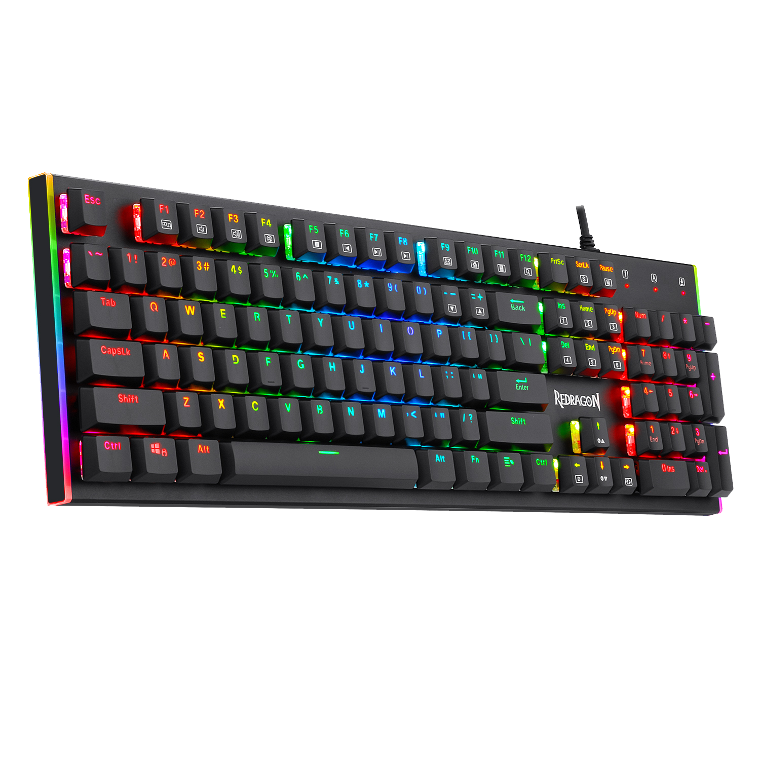 Redragon K591 Parvati RGB Backlit Low Profile Wired Mechanical Gaming Keyboard