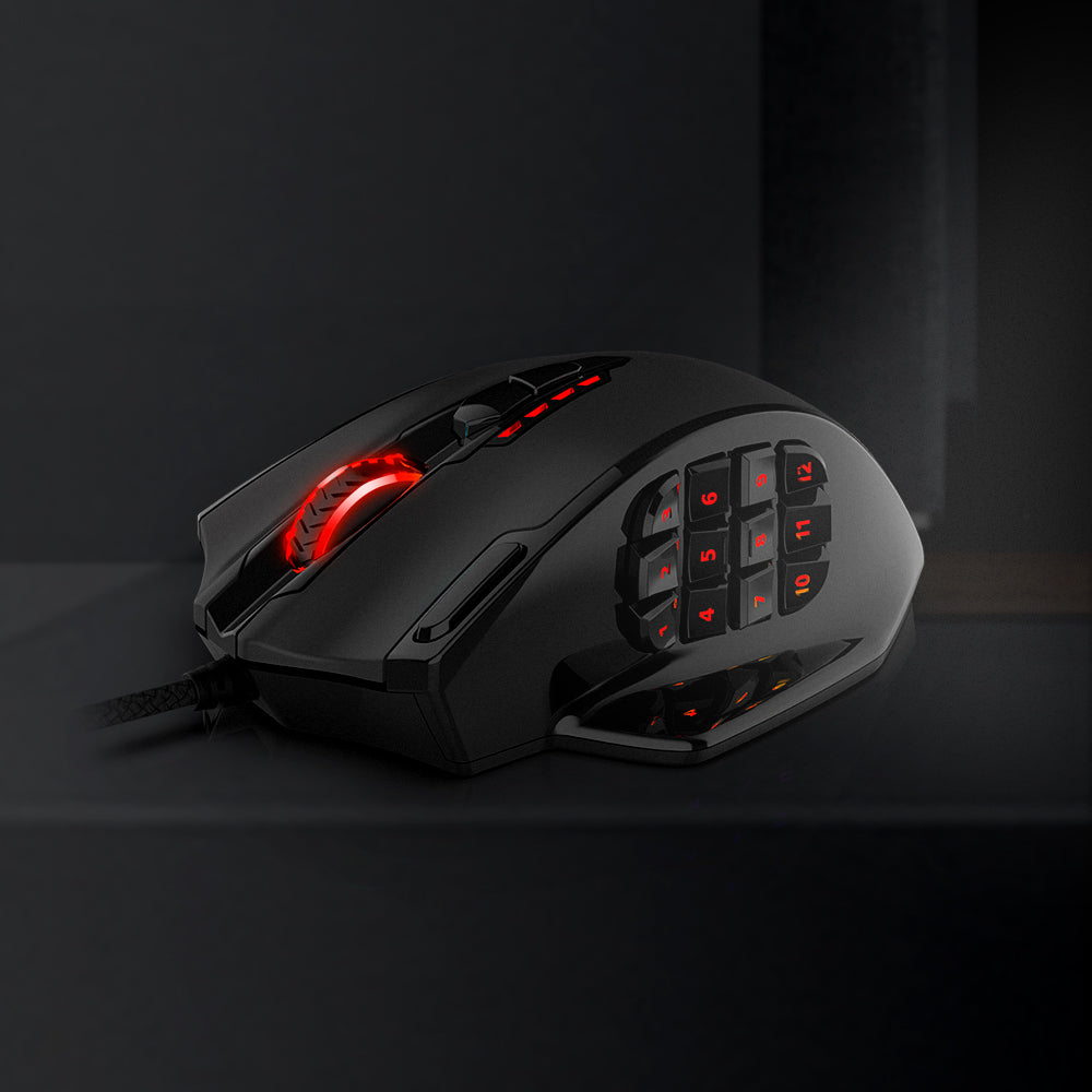 Redragon M908 Impact RGB LED MMO Mouse with Side Buttons