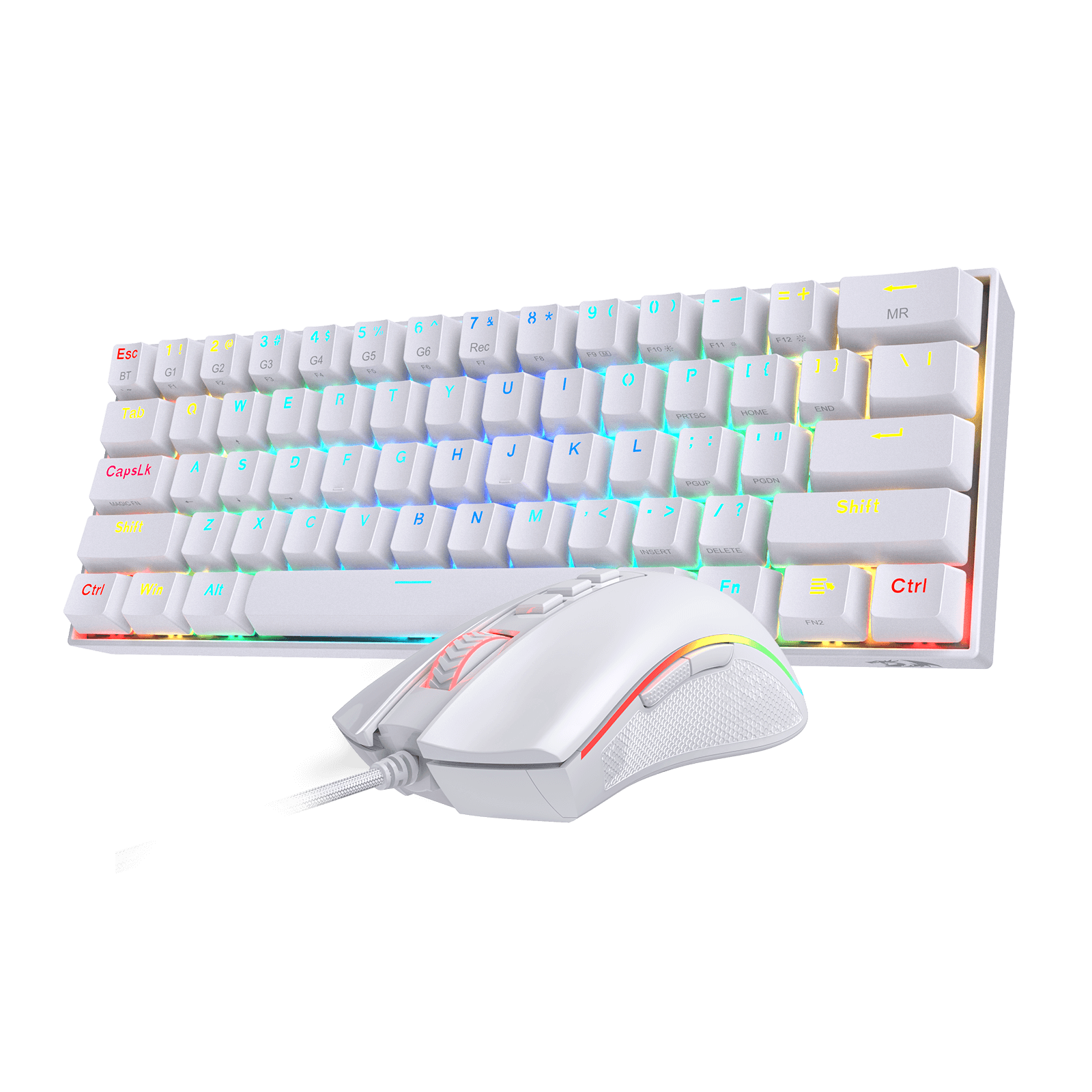 redragon 60 keyboard white and mouse combo