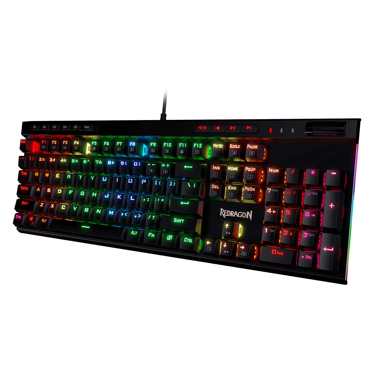 redragon k580 rgb gaming keyboard with brown switch