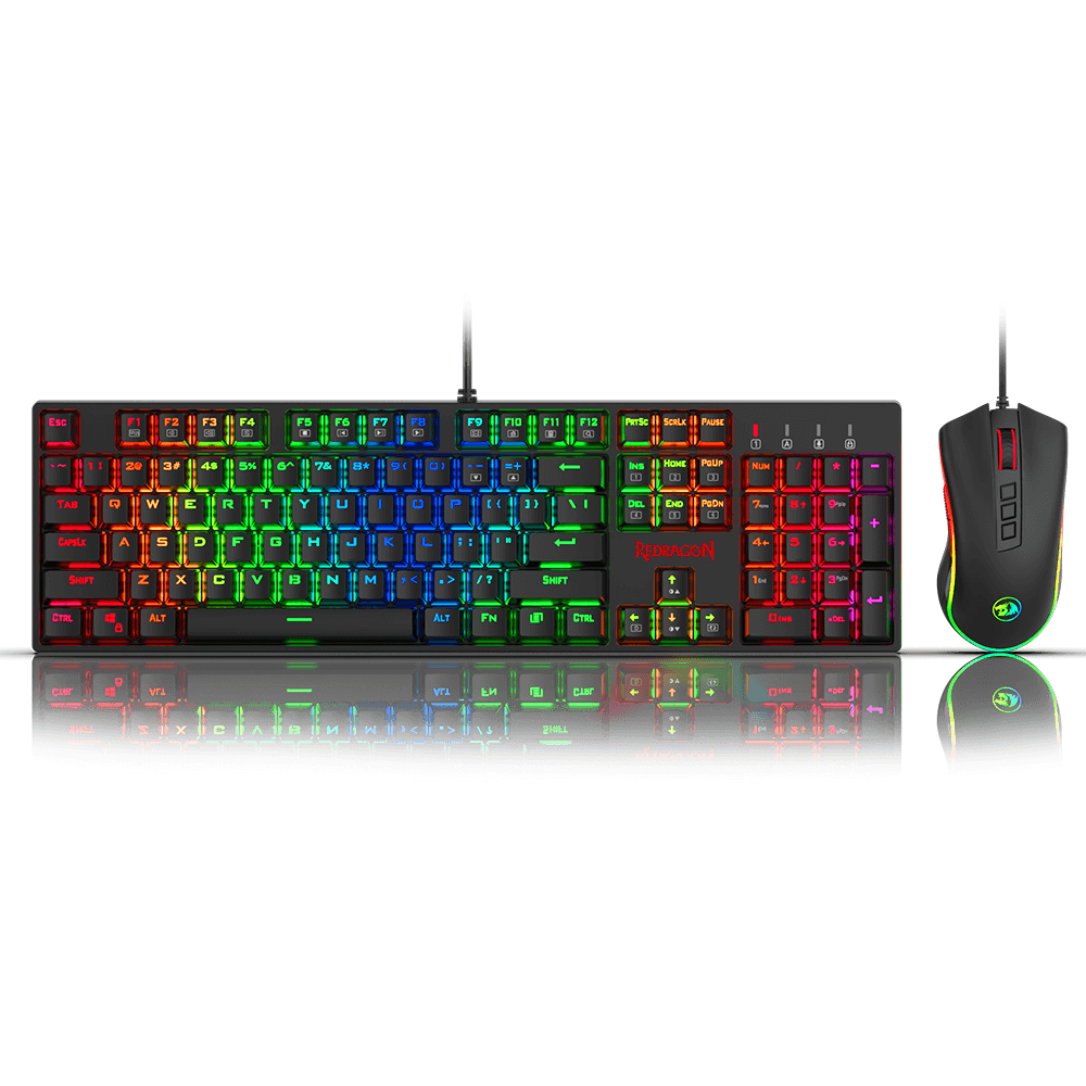 Redragon K582-BA Wired Mechanical Gaming Keyboard & M711 Cobra Gaming Mouse Combo