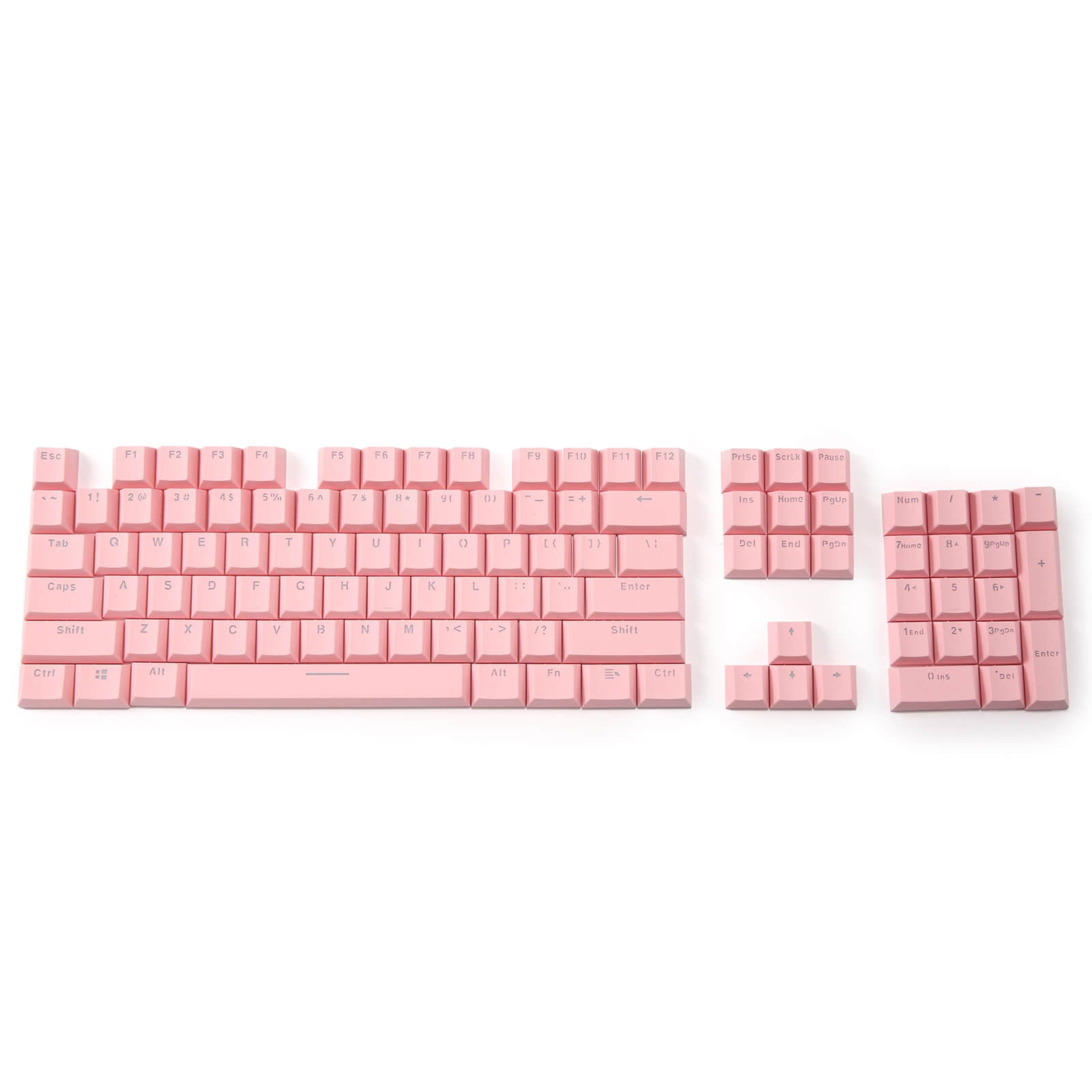 LTC LavaCaps Double Shot PBT 104 Keycaps Set with Translucent Layer