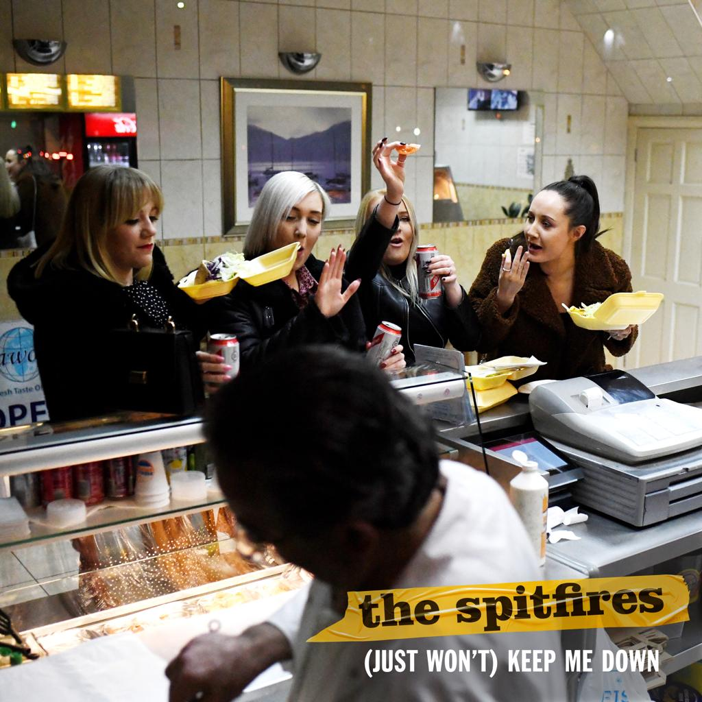 The Spitfires 'Just Won't Keep Me Down' single cover.