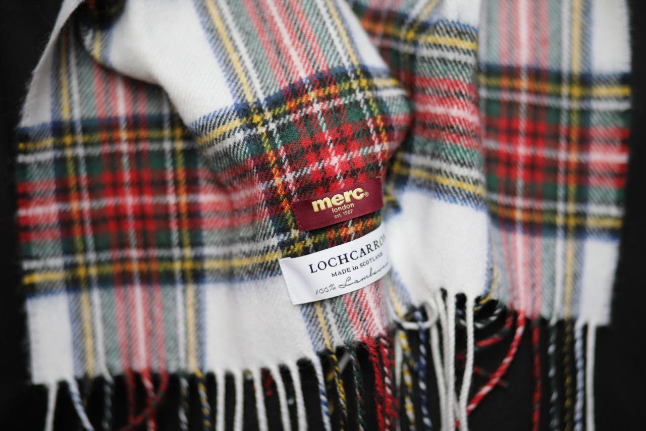 Merc and Lochcarron, Dual Branded, Same Outlook. Classic and stylish look on the Stewart Dress Lambswool Collaboration.