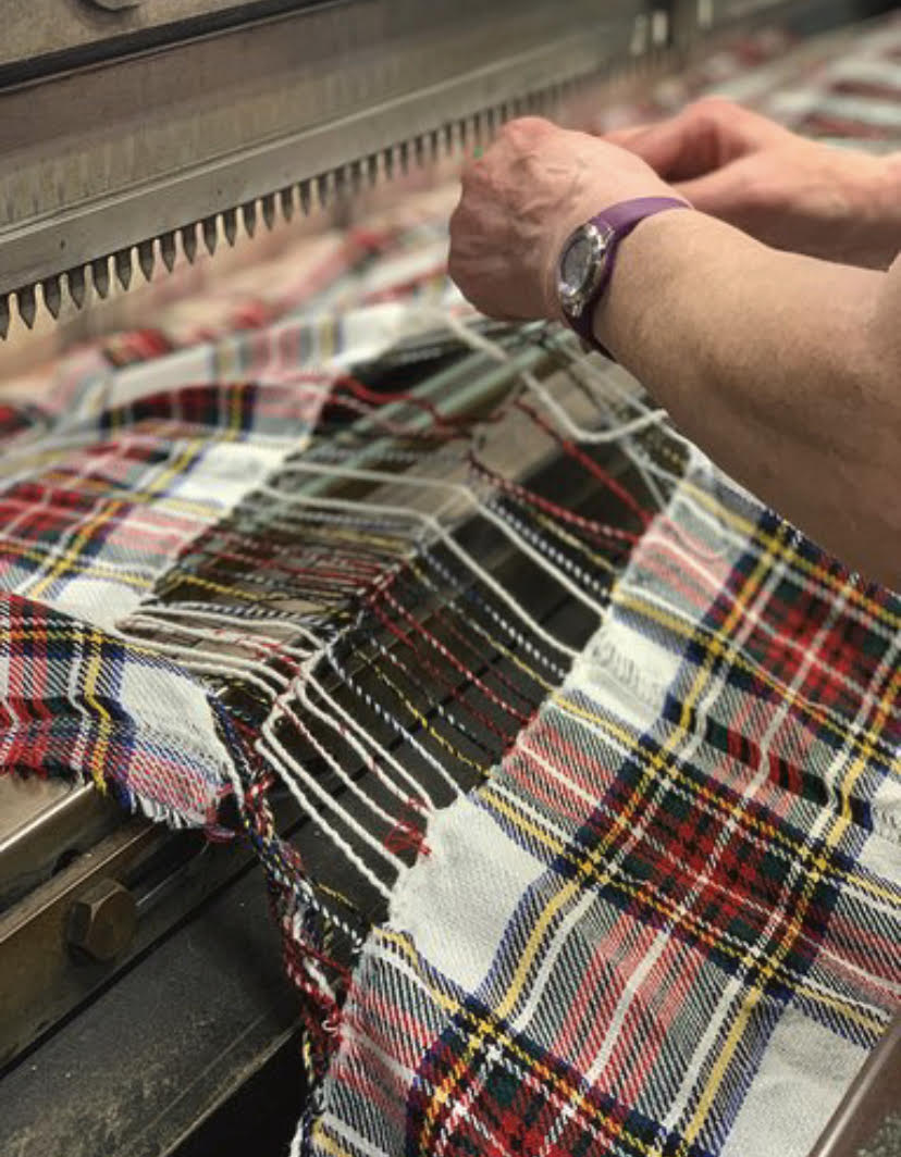 Putting it all together, how the Stewart Dress Tartan takes shape!