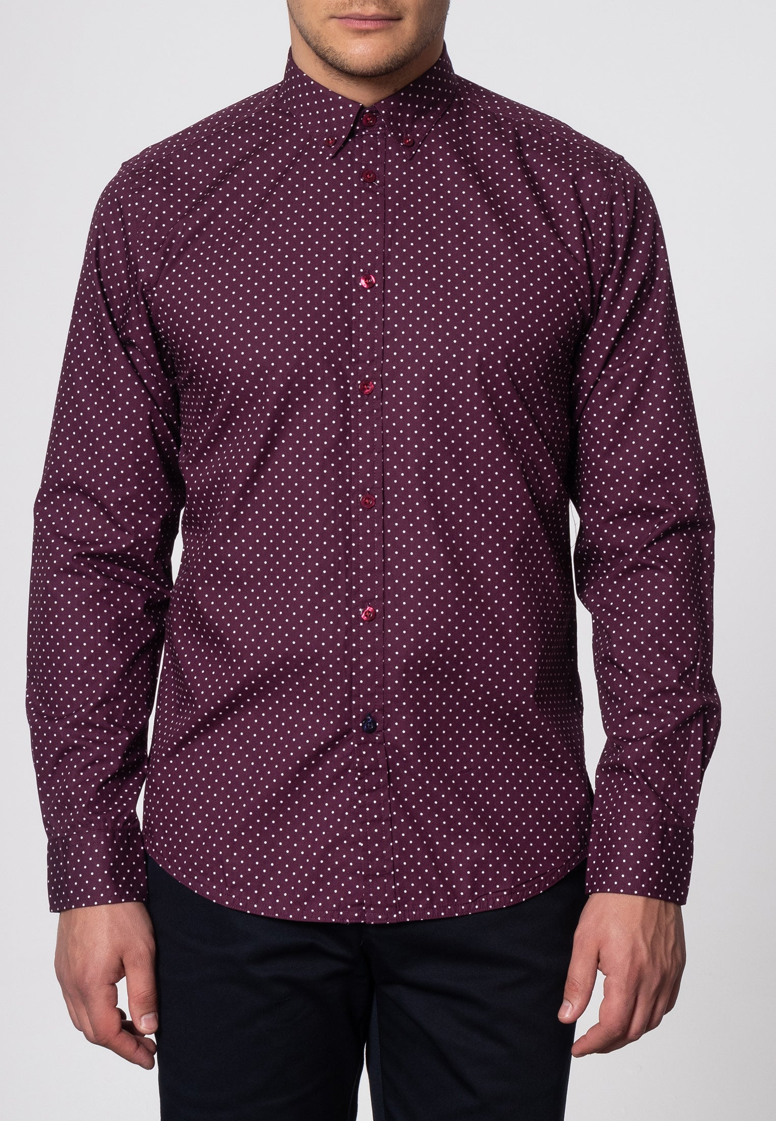 Siegel Polka Dot Shirt - Merc London