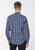 Blue|Cornhill Check Shirt - Merc London
