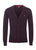 Wine Marl|Harris Pure Wool Cardigan - Merc London