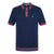 Navy|Sadler Knit Polo - Merc London