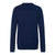 Navy|Derby Long Sleeve Knit Polo - Merc London