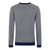 Grey Marl|Vernon Union Jack Jumper - Merc London