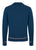 Dark Blue|Hadwin Long Sleeve Knit Polo - Merc London
