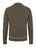 Khaki|Hadwin Long Sleeve Knit Polo - Merc London