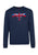 Navy|Otto crew-neck sweatshirt - Merc London