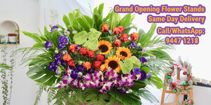 grand opening flower stand same day delivery