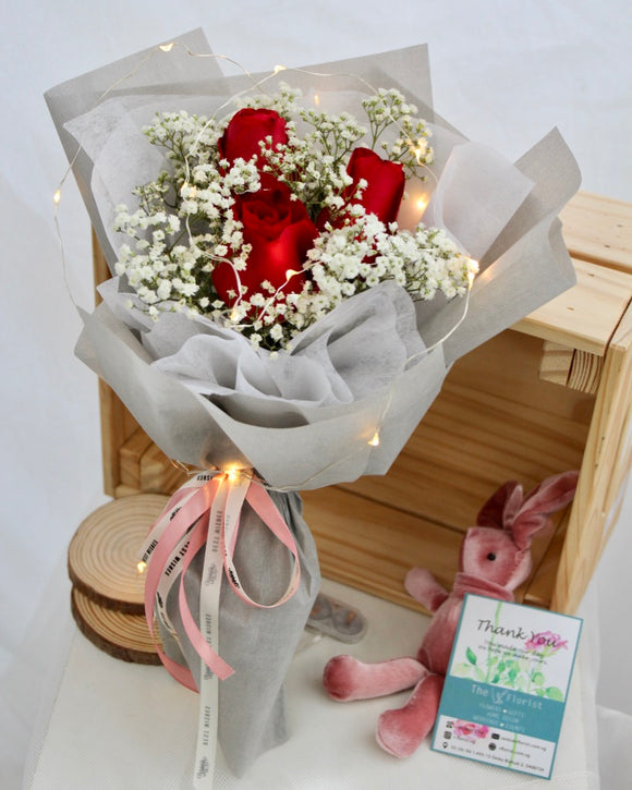 rose bouquet | Free Flower Delivery | V Florist SG