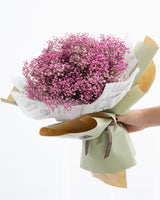 Pink Baby's Breath Flower Bouquet