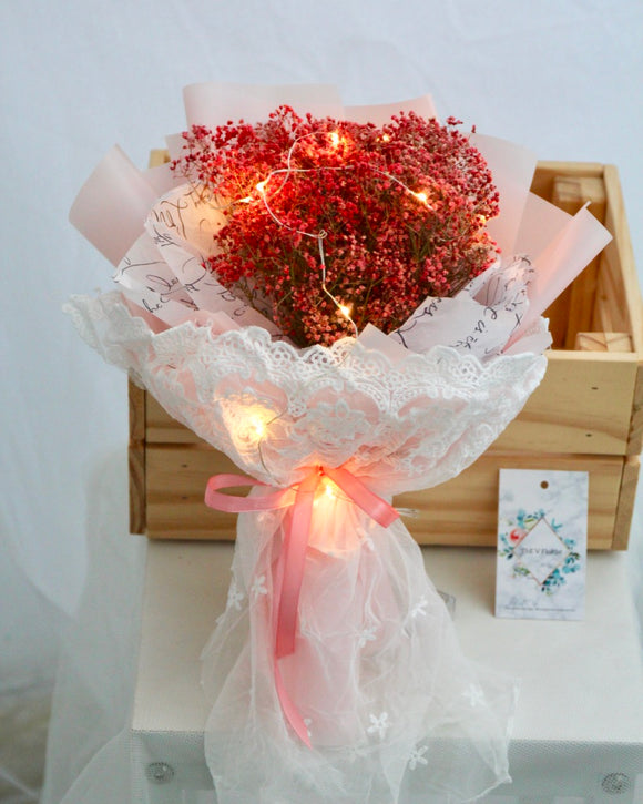 pink baby's breath bouquet | Free Flower Delivery | V Florist SG