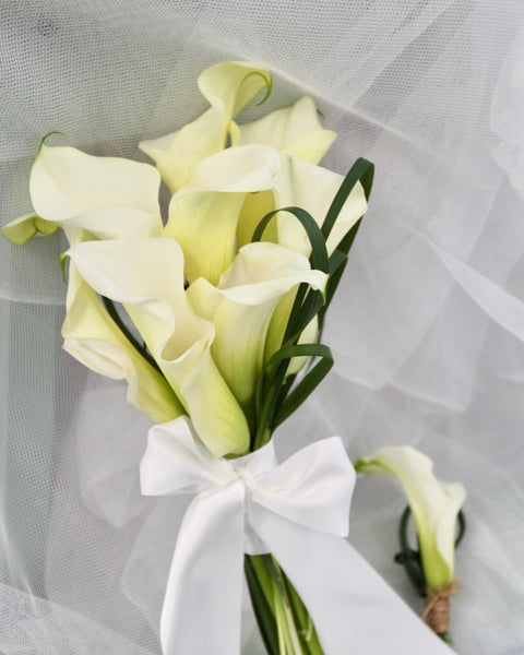 Calla Lily Bridal Bouquet | Free Flower Delivery | V Florist SG