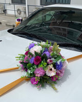 Bridal Car decor - Artificial Flowers with Ribbons