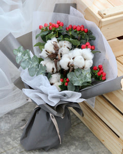 Cotton flower bouquet | Free Flower Delivery | V Florist SG