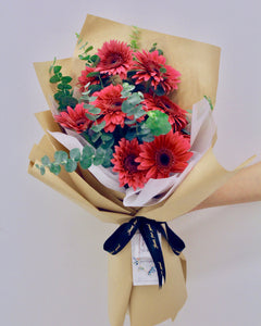 Dark Purple Gerbera Daisy Bouquet | Free Delivery | V Florist SG