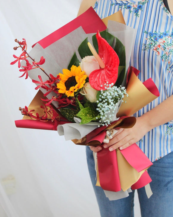 Sunflower bouquet | Free Flower Delivery | V Florist SG