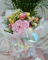 Rainbow rose and hydrangea bouquet | Free Flower Delivery | V Florist SG