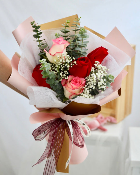 Pink and Red Rose Bouquet
