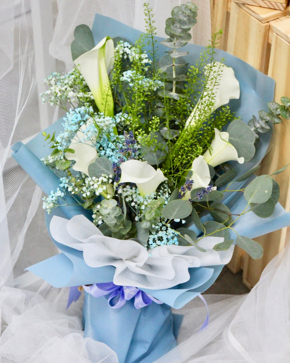 Cala lily flower bouquet | Free Flower Delivery | V Florist SG