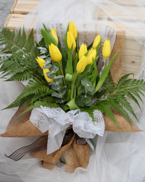 yellow tulip flower bouquet | Free Flower Delivery | V Florist SG