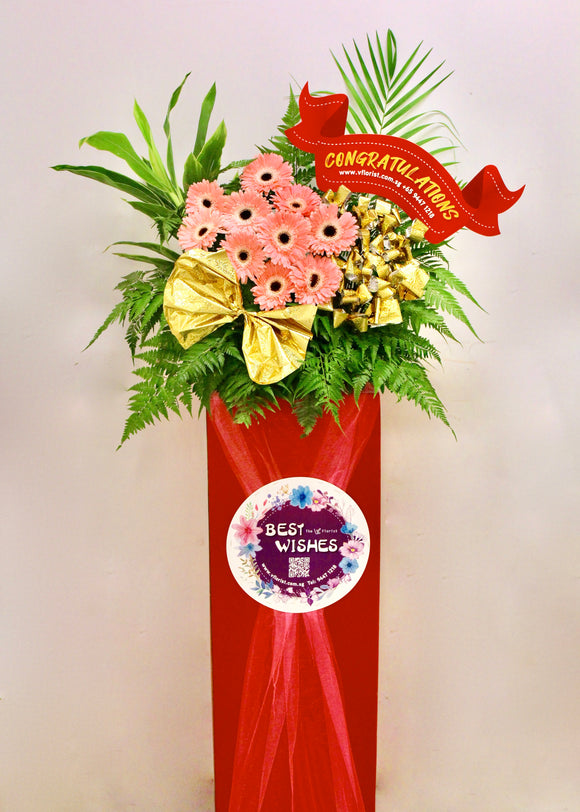 Grand Opening Flower Stand | Shop opening flower | congratulation flower | Free Flower Delivery | V Florist SG