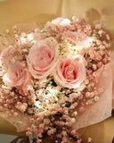 rose and baby's breath bouquet | Free Flower Delivery | V Florist SG