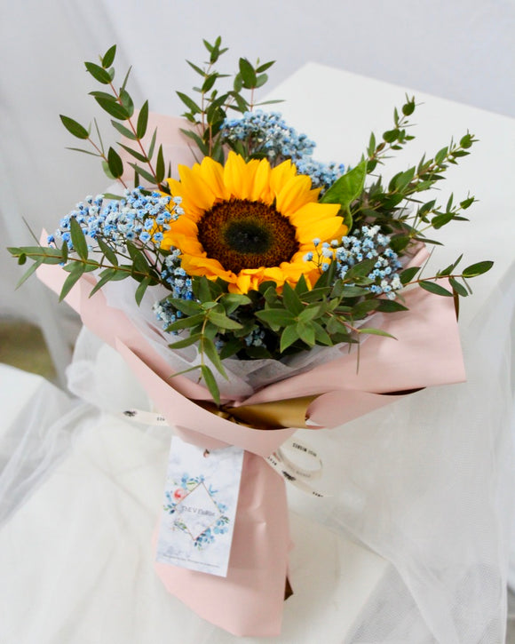 One Stem Fresh Sunflower Bouquet