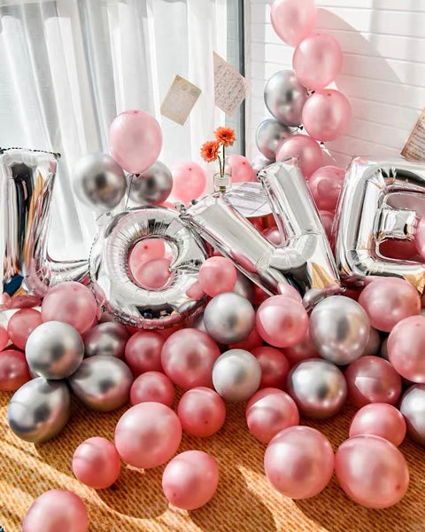 Proposal Decoration - Pink Balloons