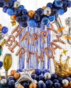 Party Decoration - Metallic Blue Balloons