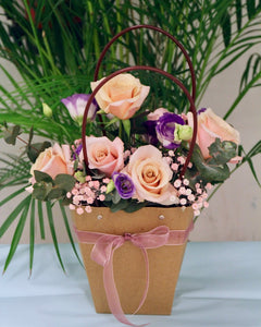 Beautiful Designed Flower in carrier| Free flower Delivery | V Florist SG