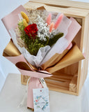 Preserved Flower Bouquet - Red Rose