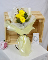 Preserved Flower Bouquet - Yellow Roses