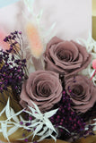 Preserved Rose Bouquet - Brown Roses