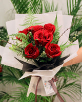 Red Rose Bouquet - Summer Glow